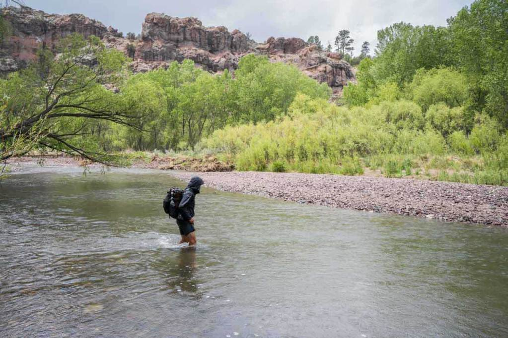 Moist crossing the Gila River in New Mexico