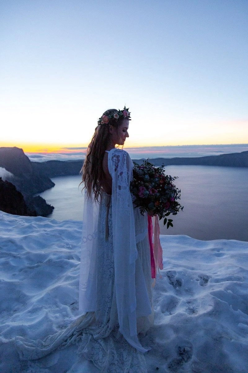 bride at crater lake