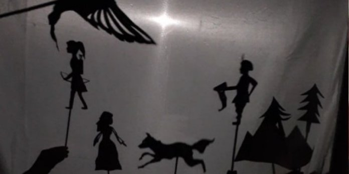 Shadow puppets help tell the story of Firebird: The Musical.