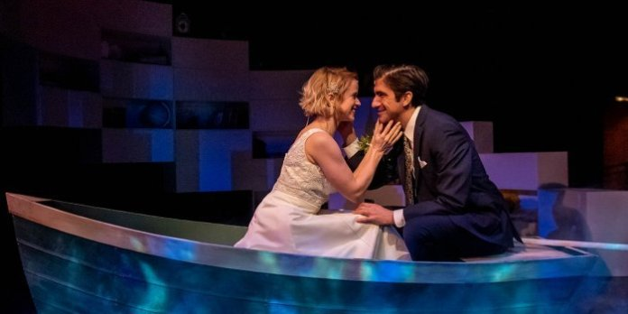 Heather McGuigan and Aidan deSalaiz in the Neptune Theatre production of The Last Five Years. Photo by Stoo Metz.
