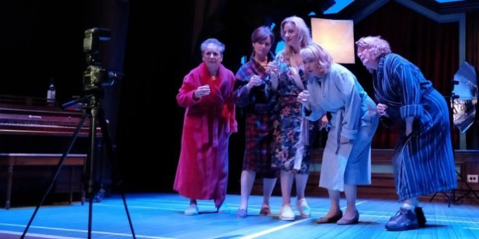 Members of the cast of the Neptune Theatre production of Calendar Girls. Photo by David Hannigan.