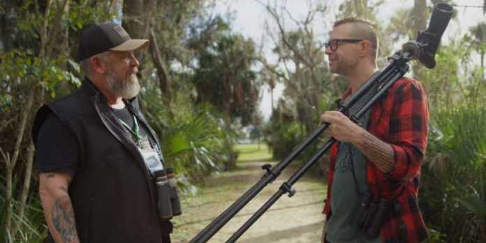 Through his adventures, Paul Riss (right with fellow birder Tom Ferguson) comes to a deeper realization that in the world of birding and birders, he has found his tribe.