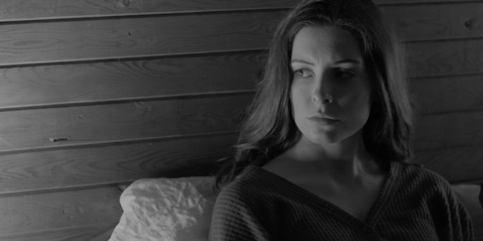 Alexa Morten (above) in a screenshot from The Colour of Spring. Shot primarily in black and white, it allowed the filmmaker to enhance the narrative and offered additional opportunities for creativity.