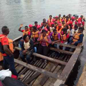 Halifield Students on their way to Sea School, Apapa