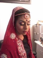 Bridal makeup done by an Asian makeup artist