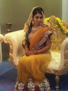yellow mehndi saree