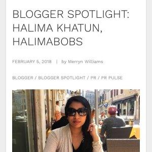 Blogger spotlight - HalimaBobs on Vuelio