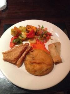 starters at Zeera restaurant