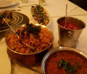 Indian biryani and curry sauce