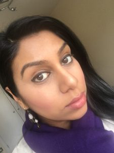 bright baked makeup and concealer