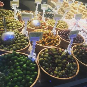 deli olives at Spitalfields market