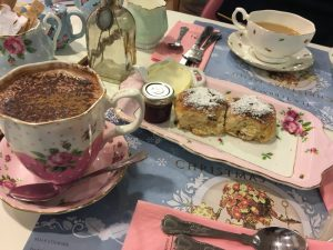 Hot chocolate and scones at Tea Terrace House of Fraser
