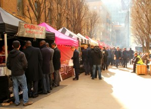 Food stalls in the city of london