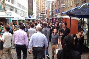 Leather lane halal food market