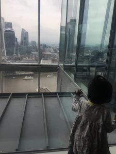 Exploring london bridge with a toddler