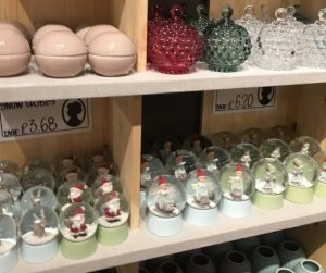 Snow globes and trinkets from Sostrene Grene