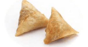 Cheese and sweetcorn samosas