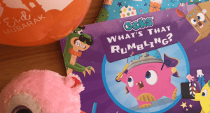 Children's what's that Rumbling Ook personalised storybook