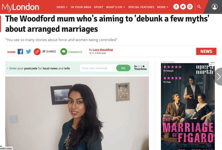 The Secret Diary of an Arranged Marriage in MyLondon