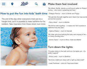 HalimaBobs parenting advice in Boots magazine