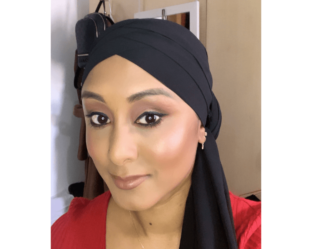 Huda beauty Faux filter foundation on brown skin