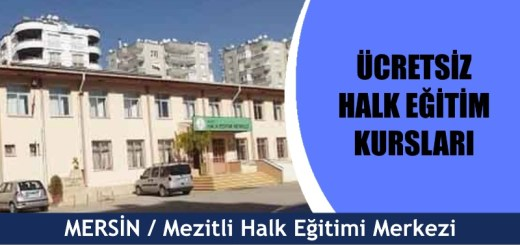 MERSİN-Mezitli-Halk-Eğitim-Merkezi-Kursları