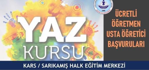 KARS-SARIKAMIŞ-Halk-Eğitim-Merkezi-Yaz-Dönemi-Ücretli-Öğretmen-Usta-Öğretici-Başvuruları