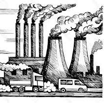 بالقلم الرصاص رسم عن تلوث البيئة