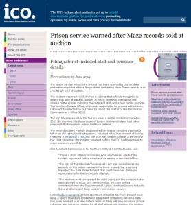 Prison Service in NI Warned over Data Breach