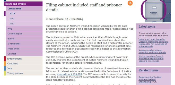 Prison Service warned over data breach