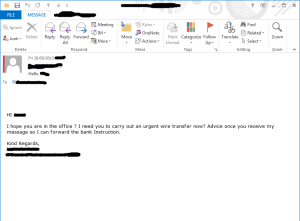 FinPhishing - short and succinct message, simple to generate but potentially deadly to the victim.