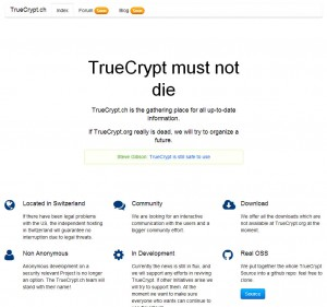 Download Truecrypt at Truecrypt.ch