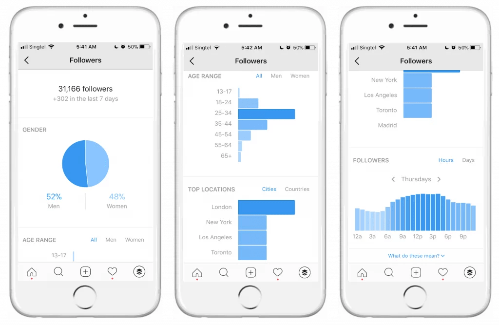 Instagram insights and demographics