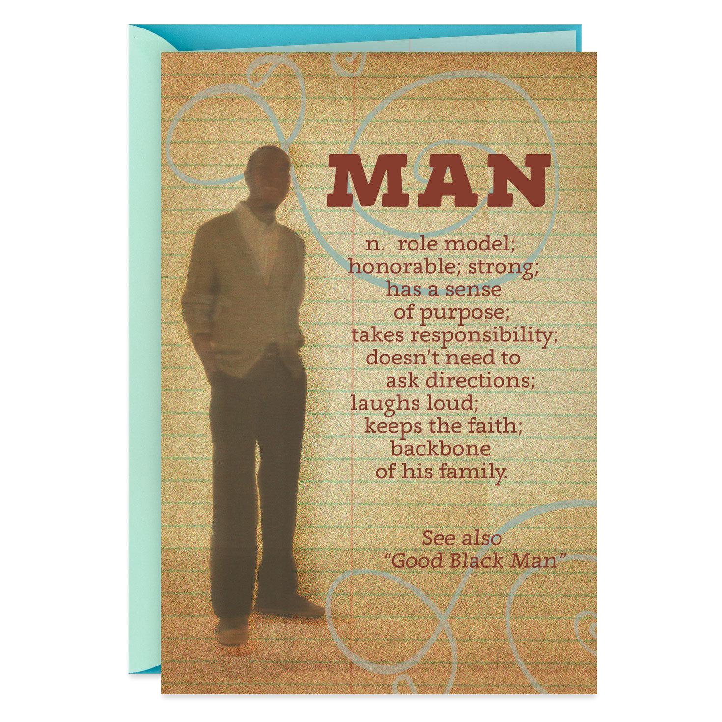 Man Definition Birthday Card For Him Greeting Cards Hallmark