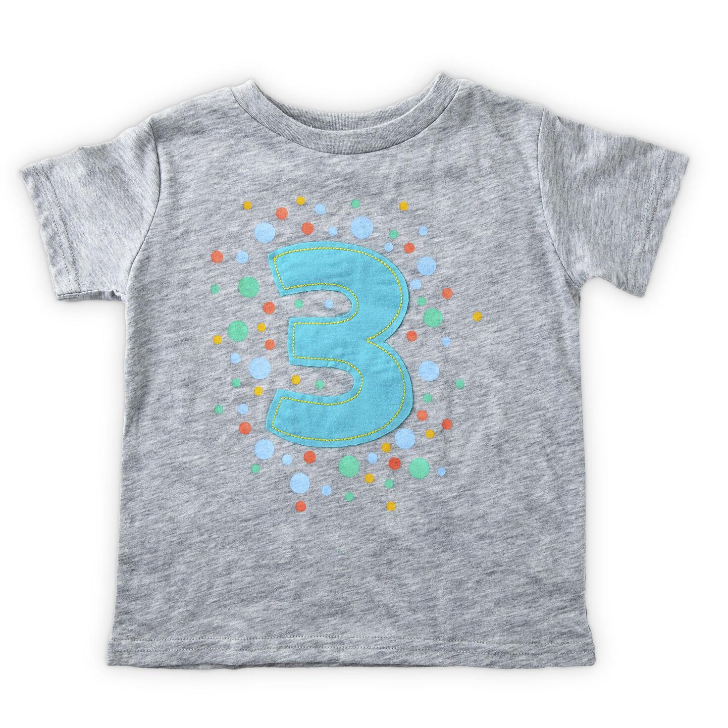 Gray Third Birthday T Shirt 3t Baby Clothes Hallmark