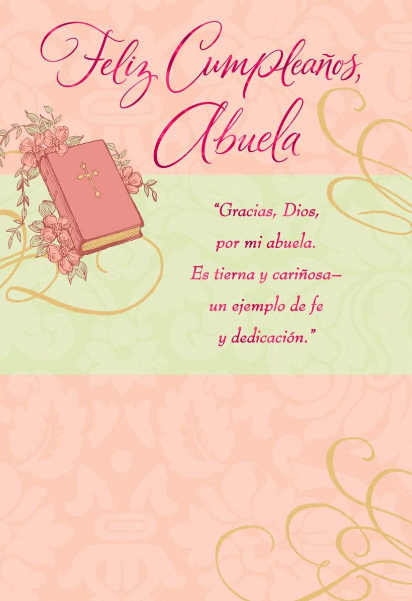 So Blessed Spanish Language Grandmother Religious Birthday Card