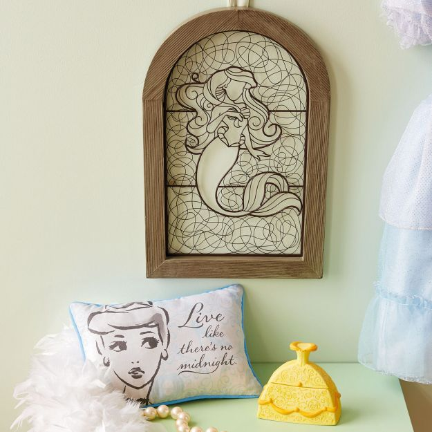 Princess Wall Art Royal Crown Cinderella Castle Custom Name Pink Aqua