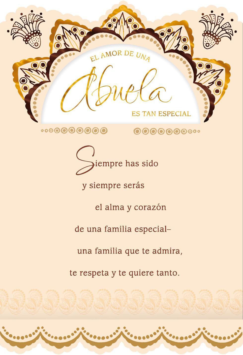 Birthday Cake Spanish Birthday Cards For Grandma