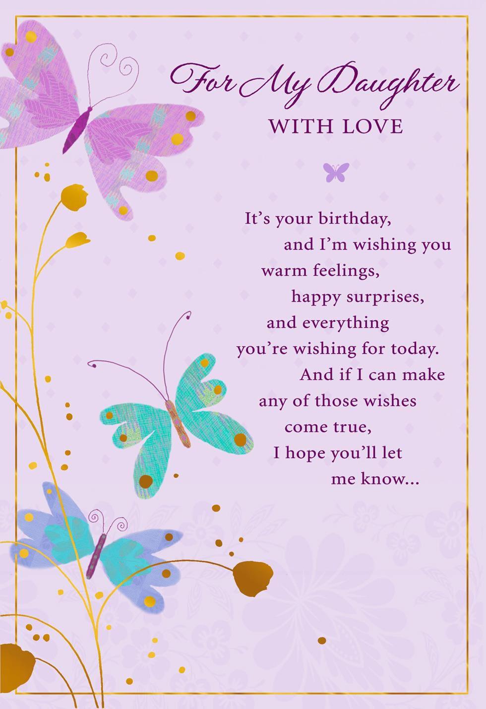 Valentine Card Design Birthday Card Happy Birthday Message To My Daughter