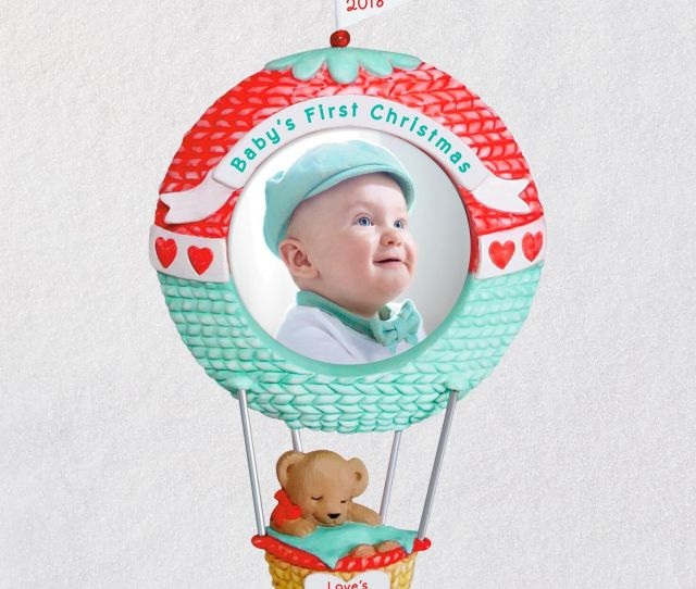 Babys First Christmas Loves Journey Begins  Photo Ornament