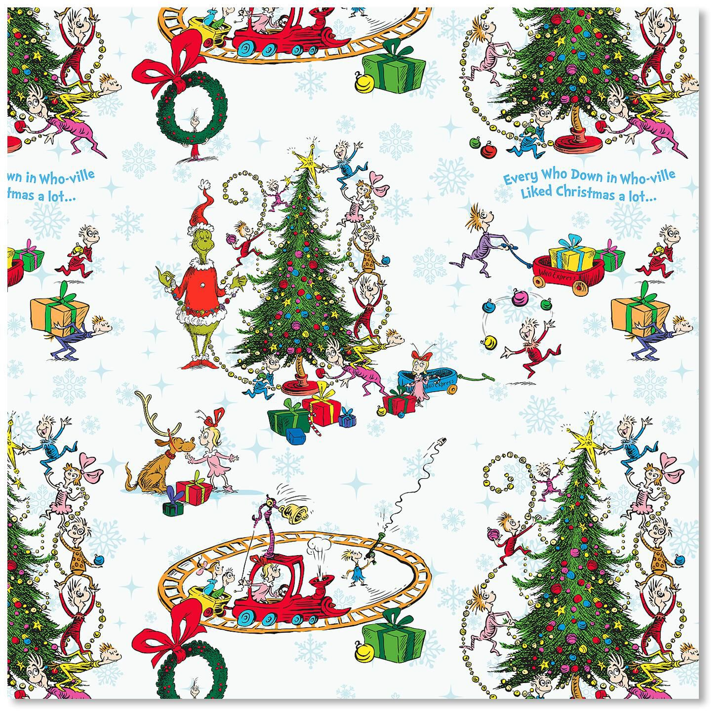 The Grinch Christmas Wrapping Paper Wrapping Paper