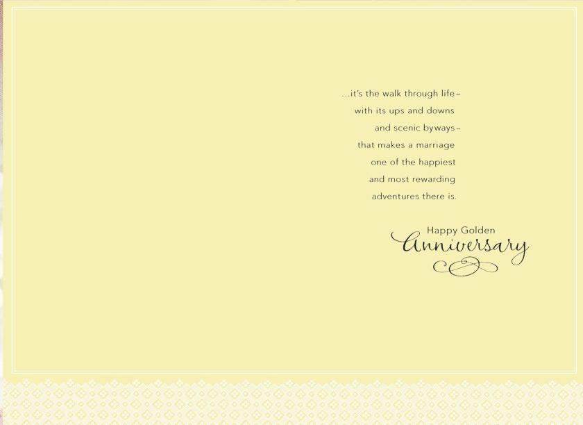 A Golden Walk 50th Anniversary Card