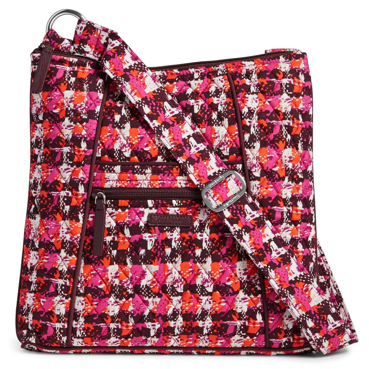 Vera Bradley Hipster Crossbody Bag In Houndstooth Tweed