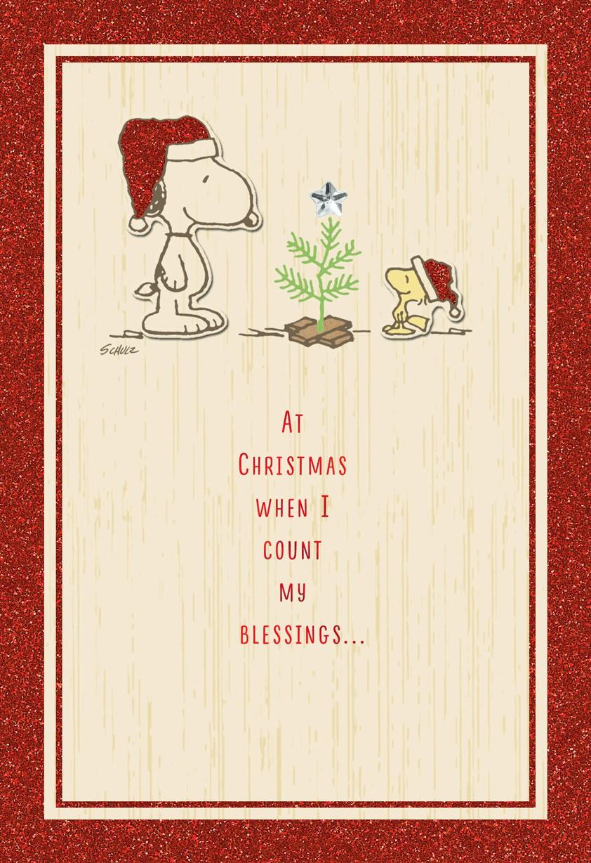 Peanuts Very Special Christmas Card For Friend Greeting