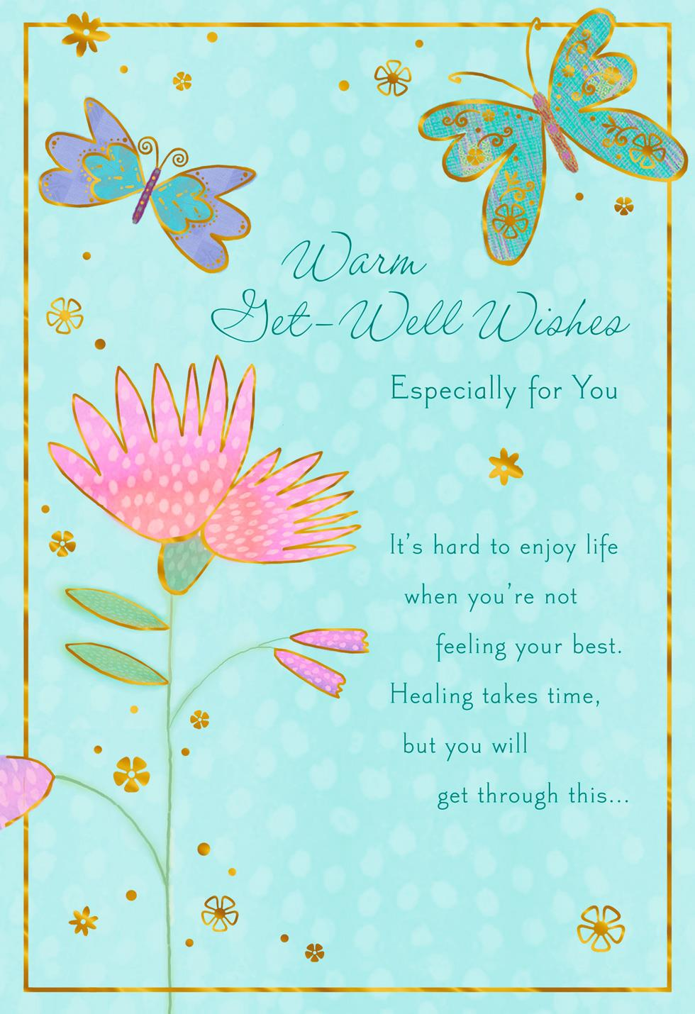 Butterflies And Flower Healing Takes Time Get Well Card Greeting Cards Hallmark