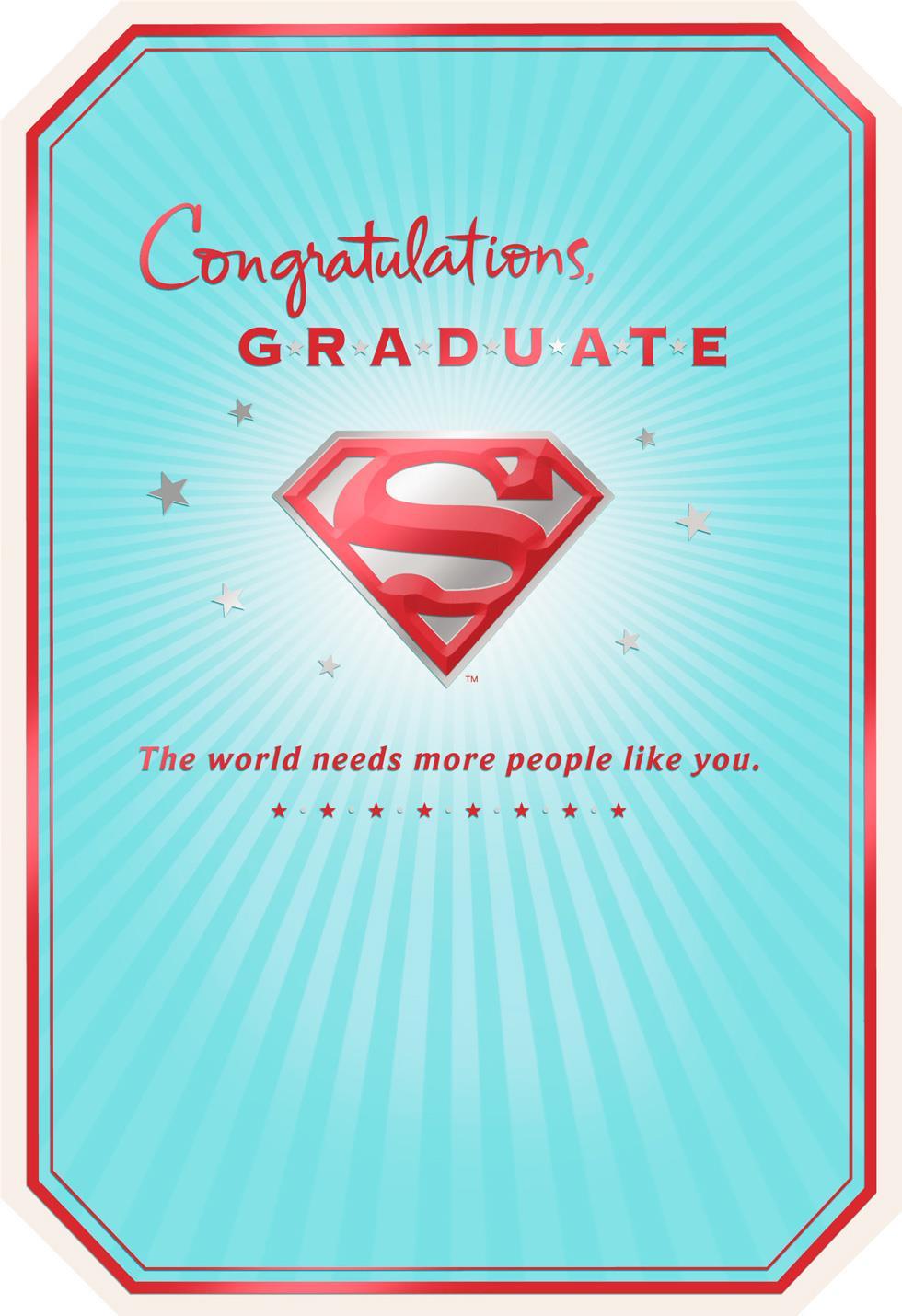 Superman S Shield Graduation Card Hallmark