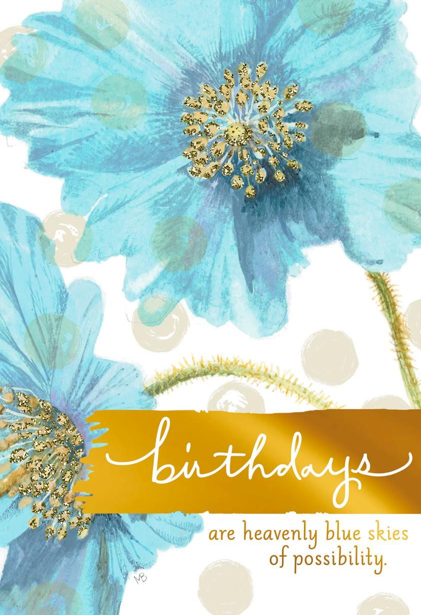 Blue Skies Of Possibility Marjolein Bastin Birthday Card