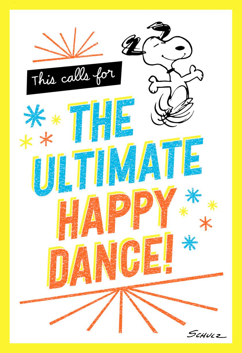 Peanuts Snoopy Happy Dance Congratulations Card