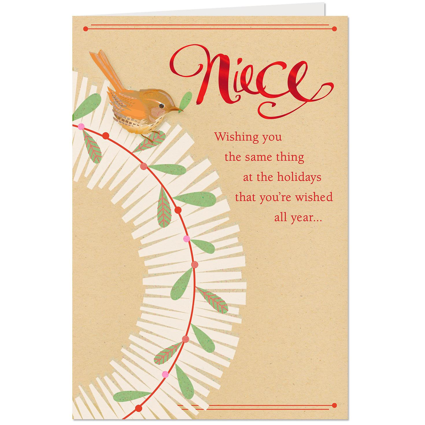 Wishes Of Love Christmas Card For Niece Greeting Cards Hallmark