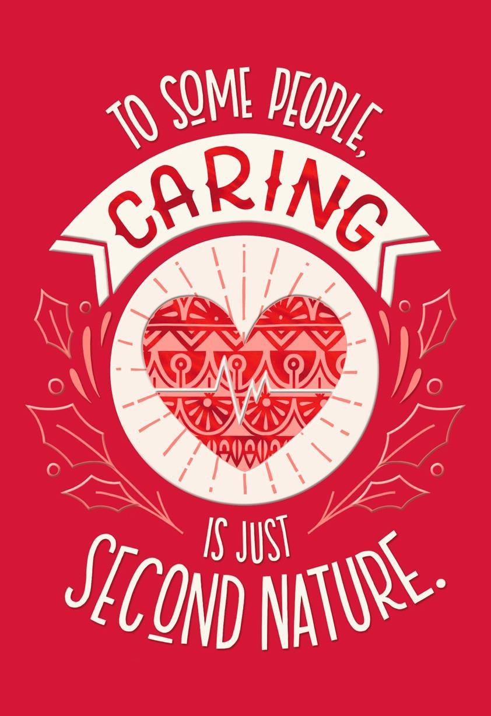 Caring Heart Nurse Christmas Card Greeting Cards Hallmark